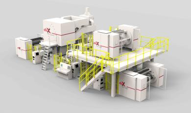 The recently introduced dsX flex-pack™ extrusion coating line from Davis-Standard