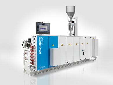 KraussMaffei Berstorff KME 60-41 B/R single-screw extruder with the longest processing unit for disproportionately high output