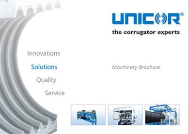 Corrugators and more products from UNICOR can be viewed in the latest machinery brochures.