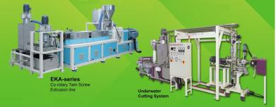 Twin Screw Extruder and Underwater Cutting system
