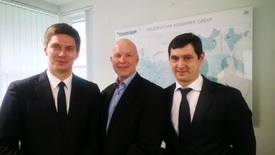 Kirill Maksimov, Director Chemicals Procurement at SIBUR, Lars H. Evensen, Business Development Manager at Norner, Vadim Gayfiev, Head of Technical Support at SIBUR.