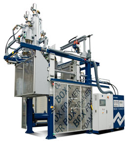 The new Kurtz BOX FOAMER and its revolutionary mould technology reaches new dimensions! Cycle times below 28 seconds and more than 50% energy saving ensure substantial increase in productivity that is hardly believable with box production
