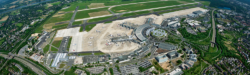 Photo: Bird's eye view of Airport Düsseldorf