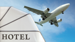 Plane and hotel